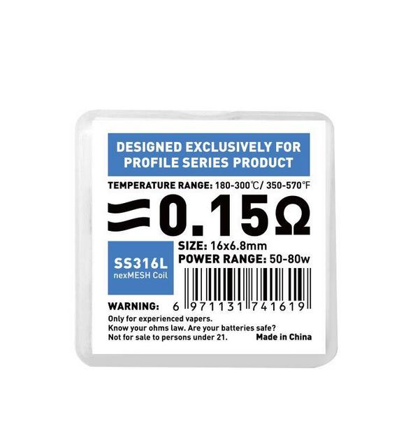 OFRF Nexmesh SS316L Coil 0.15 Ohm